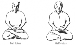 how to meditate lotus and half-lotus